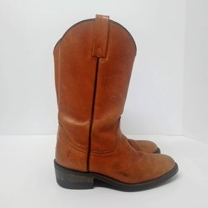 Frye Men's Boots 8 1/2 D Brown Leather Western USA